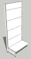 Стеллаж металлический 1000х580х2400 (без полок)