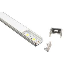 Профиль накладной для светодиодной ленты с рассеивателем, заглушками и клипсами (тип 6) 16х6мм